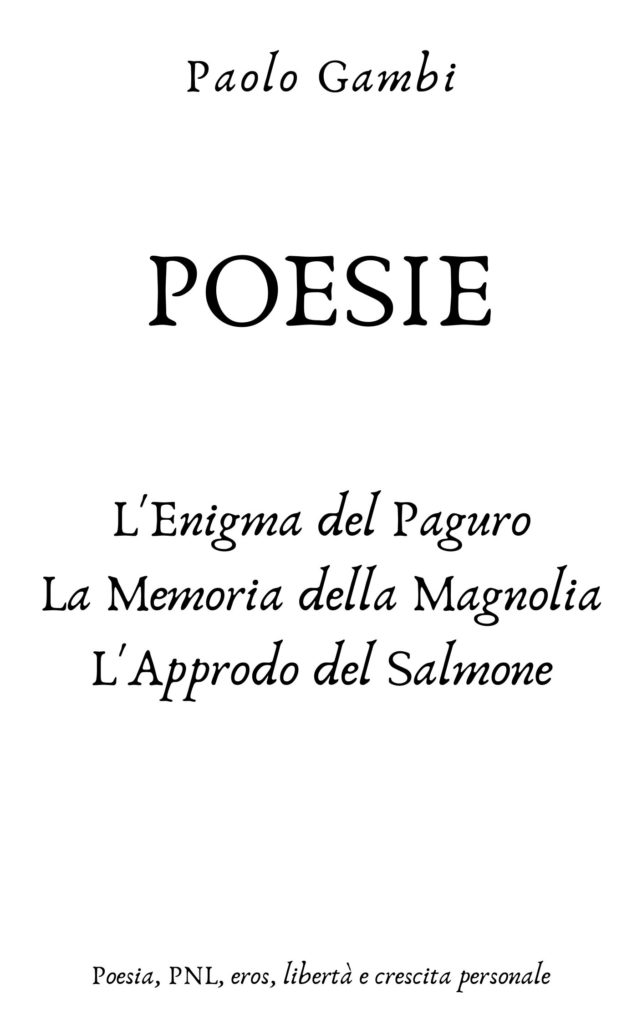 paolo gambi poesie