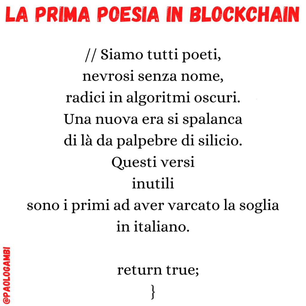 blockchain poetry